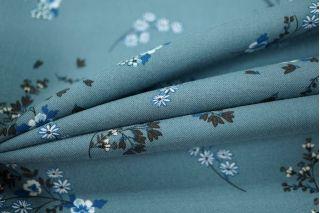 Штапель цветы на серо-голубом LEO-F6 28091806