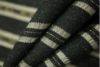 Нарядный костюмный хлопок черно-золотистый PRT-K3 01111864