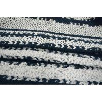 Шерстяная шанель черно-сине-белая PRT-N6 01111887