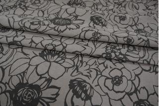 Микровельвет рубашечный хлопковый с цветами PRT-Q6 02111862