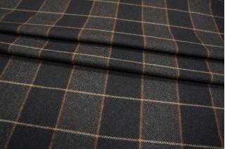 Костюмная шерсть коричневая в клетку PRT-P3 02111886