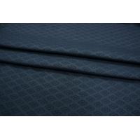 Жаккард костюмно-плательный темно-синий PRT-K4 02111888