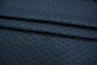 Жаккард костюмно-плательный темно-синий PRT-R2 02111888
