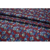 Жаккард шелковый цветы синие PRT-D4 30111801