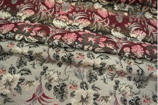 Жаккард двусторонний гобелен с люрексом цветы LEO1-D3 07111803