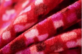 Бархат Fendi вискоза на шелке красно-малиновый PRT-B6 10121803