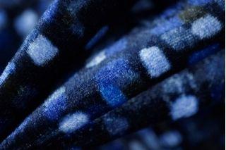 Бархат Fendi вискоза на шелке синяя ночь PRT-B6 10121804