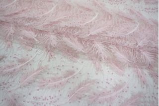 Вышивка на сетке перья и пайетки PRT-C2 27121801