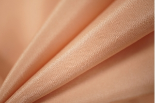 Крепдешин шелковый нежный персик PRT-G3 28121801