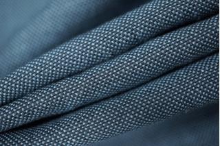 Костюмный лен с хлопком синий PRT-C3 01021919