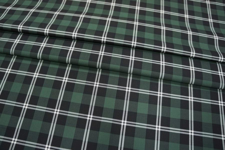 Рубашечный хлопок в клетку зеленую PRT-E4 01021921