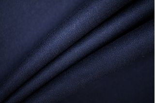 ОТРЕЗ 2,7 М Костюмная фланель шерстяная темно-синяя PRT-T4 23061911-1