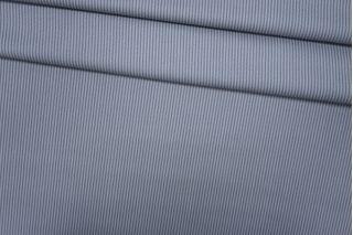 Костюмная шерсть серо-голубая в полоску PRT-X4 24071803