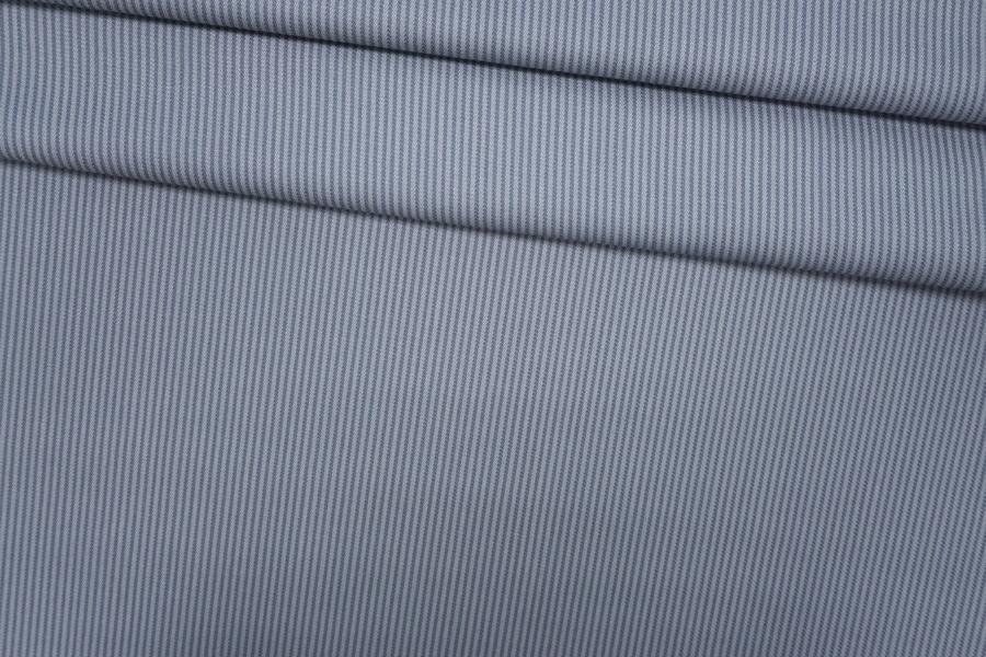 ОТРЕЗ 2.85 М Костюмная шерсть серо-голубая в полоску PRT-X4 24071803-1