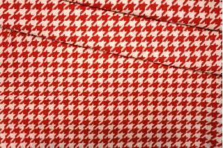 Пальтовая шерсть гусиная лапка красно-молочная PRT-F7 24071908