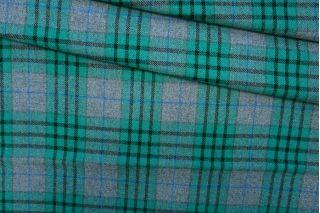 Костюмная шерсть в клетку серо-зеленая PRT-J4 25071904