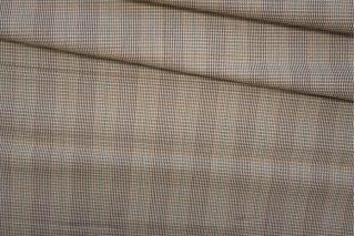 Костюмная шерсть в клетку коричневая PRT-D4 25071908