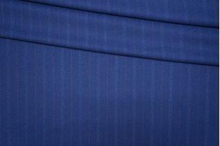 Костюмная шерсть синяя в полоску PRT-G7 25071928