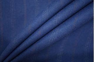 Костюмная шерсть синяя в полоску PRT- 128 G7 25071928