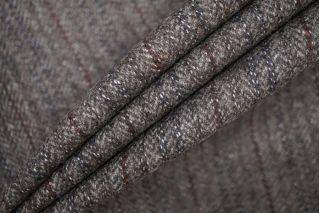 Твид коричневый пальтовый в елочку PRT-T5 25071933