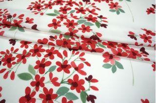Вискоза креповая красные цветы PRT-B2 01021935