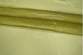 Шелковая органза желто-зеленая PRT-D4 01021941