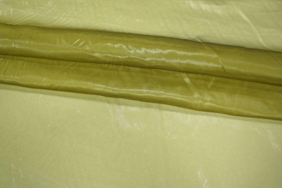 ОТРЕЗ 1.8 М Шелковая органза желто-зеленая PRT-D4 01021941-3