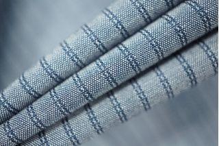Рубашечный хлопок синий в полоску PRT-B2 01021949