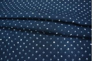 Темно-синий лен в ромбы PRT-H5 01021951