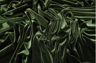 Бархат-стрейч зеленый PRT-B6 01021955