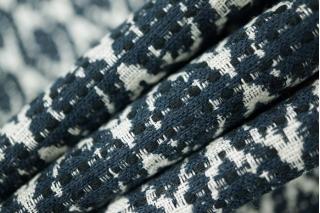 Жаккард костюмный бело-синий PRT-H4  02021910