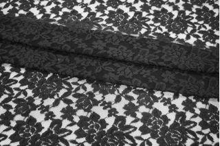 Гипюр черный с шерстью PRT-C2 02021912