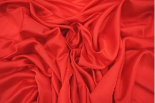 Блузочный шелковый сатин красный PRT-D4 02021922