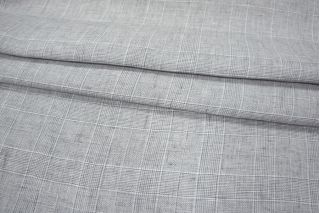 Серый лен в клетку PRT-G6 02021928
