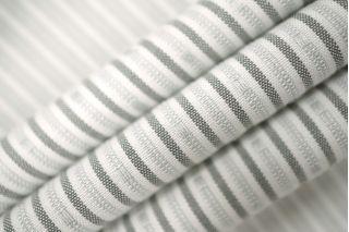 Рубашечный хлопок со льном в полоску серый PRT-H5 02021935