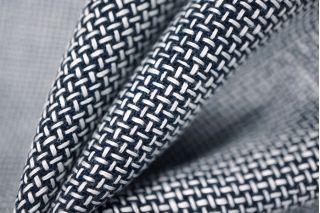 Лен рогожка сине-белый PRT-H5 02021936