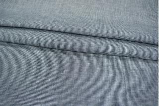 Лен пепита сине-белый PRT-H5 02021937