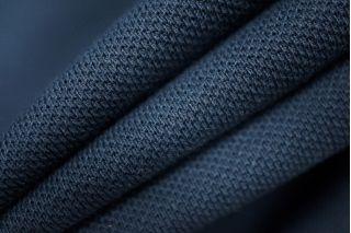 Трикотаж пике двухслойный темно-синий PRT-C4 02021944
