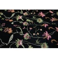Цветочная вышивка на черном бархате PRT-B6 14121806
