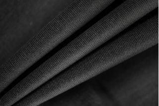 Вельвет-стрейч хлопковый черный PRT-E2 06031913