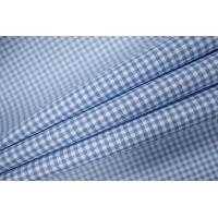 ОТРЕЗ 1,75 М Рубашечный хлопок в клетку голубой PRT-F5 06031907-1