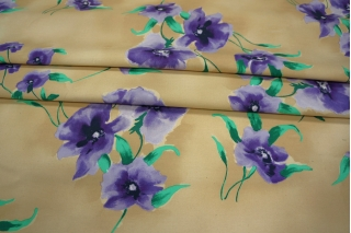 Хлопок костюмный цветы КУПОН PRT-В4 06031912