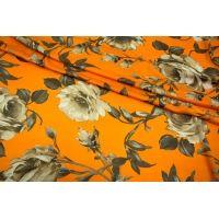 Искусственный шелк розы на ярко-оранжевом UAE-I7 18121733