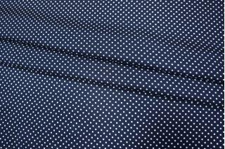 ОТРЕЗ 1,5М 2КУПОНА Шелк горошек на темно-синем КУПОН PRT-G3 03111838-1