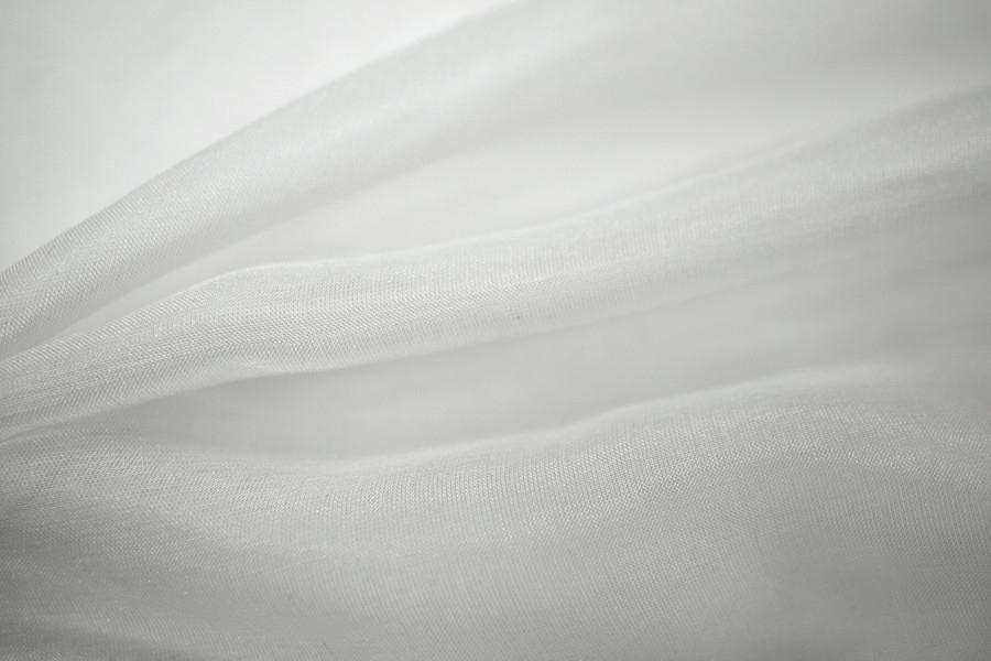 Шифон шелковый белый PRT1-AA3 08031802