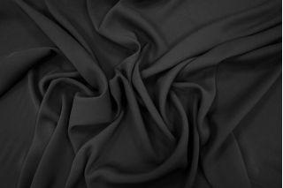 Креп черный вискоза с шелком PRT-H3 02021918