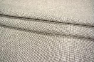 Лен пепита бело-коричневый PRT-H6 03021909