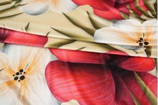 Бархат-стрейч крупные цветы PRT-E3 03021924