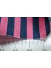 Шелк в полоску сине-розовый PRT-D4 03021927