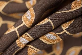 Креп шелковый коричневый PRT-H3 03021928